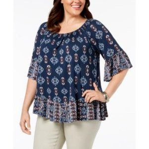 Style & Co Western Flounce Trim Off the Shoulder
